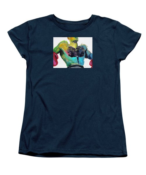 Colorful Hairy Boxer Women's T-Shirt (Standard Cut) by Shungaboy X