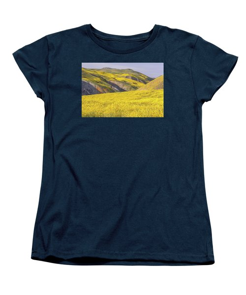 Women's T-Shirt (Standard Cut) featuring the photograph Colorful Hill And Golden Field by Marc Crumpler