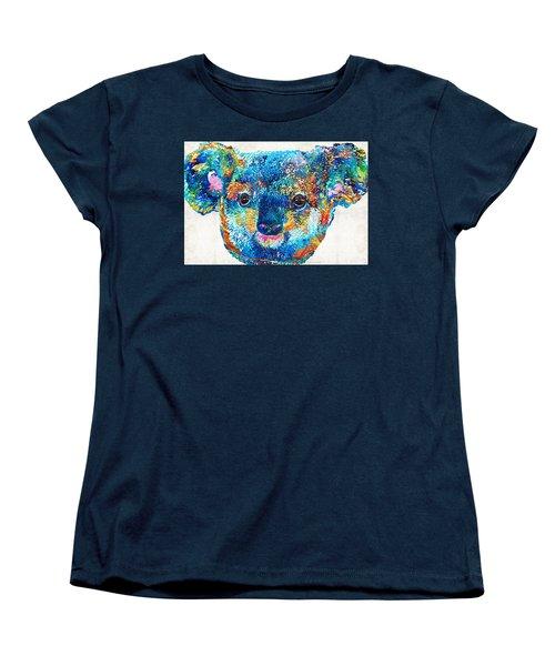 Colorful Koala Bear Art By Sharon Cummings Women's T-Shirt (Standard Cut) by Sharon Cummings