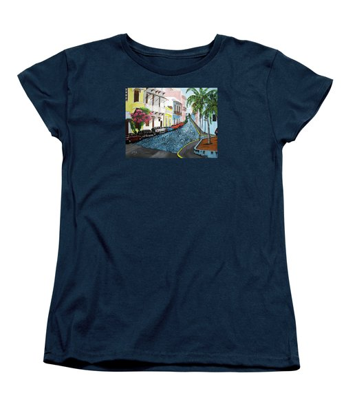 Colorful Old San Juan Women's T-Shirt (Standard Cut) by Luis F Rodriguez