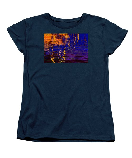 Colorful Ripple Effect Women's T-Shirt (Standard Cut) by Danuta Bennett