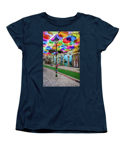 Colorful Street Women's T-Shirt (Standard Cut) by Marco Oliveira
