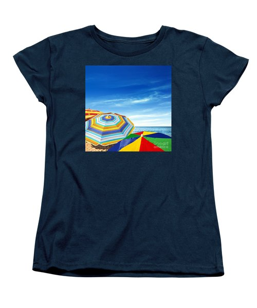 Colorful Sunshades Women's T-Shirt (Standard Cut) by Carlos Caetano