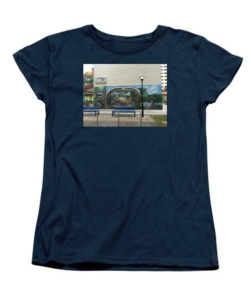 Coloring Holland V Wall 1 - Memories Women's T-Shirt (Standard Cut) by Belinda Low
