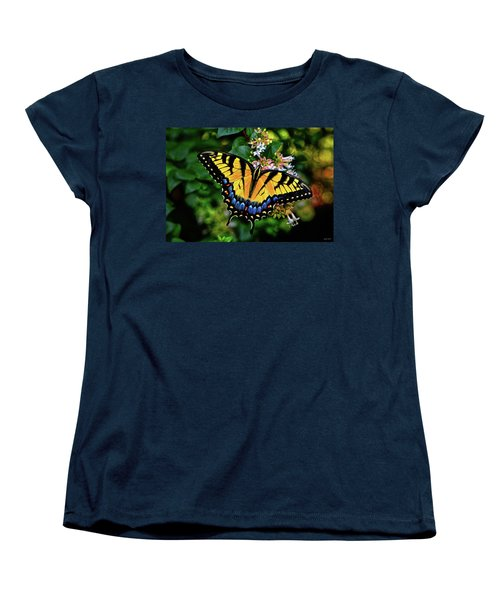 Women's T-Shirt (Standard Cut) featuring the photograph Colors Of Nature - Swallowtail Butterfly 003 by George Bostian