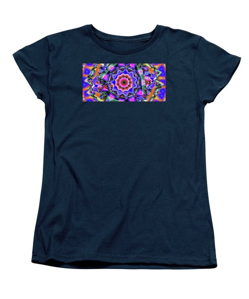Women's T-Shirt (Standard Cut) featuring the digital art Colors O're Laid by Ron Bissett