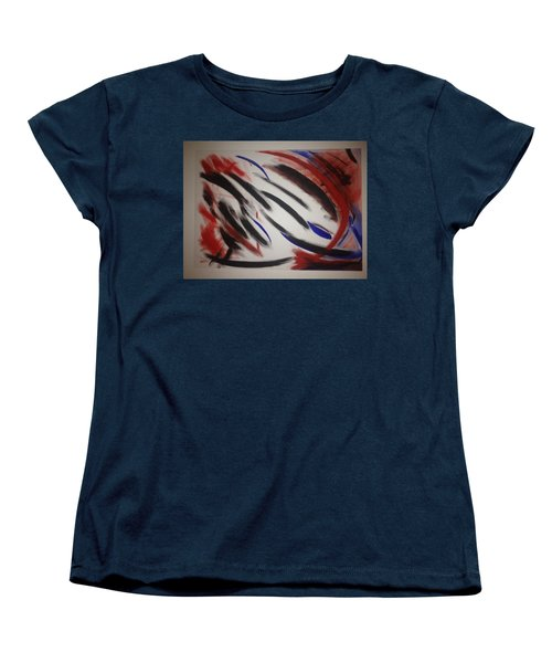 Women's T-Shirt (Standard Cut) featuring the painting Abstract Colors by Sheila Mcdonald