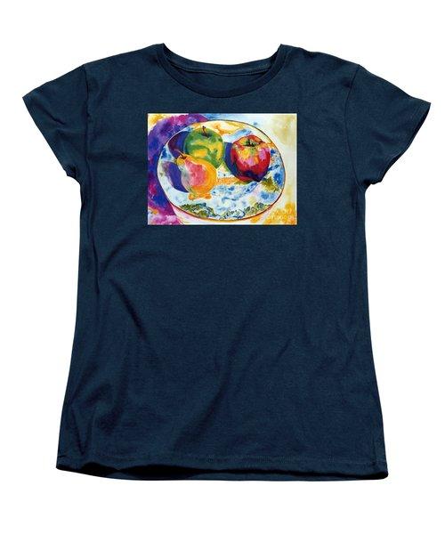 Colourful Trio Women's T-Shirt (Standard Cut) by Lisa Boyd