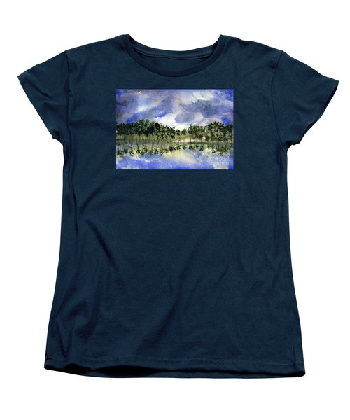 Columbian Shoreline Women's T-Shirt (Standard Cut) by Randy Sprout