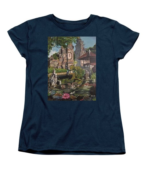 Women's T-Shirt (Standard Cut) featuring the painting Come Into My World by Belinda Low