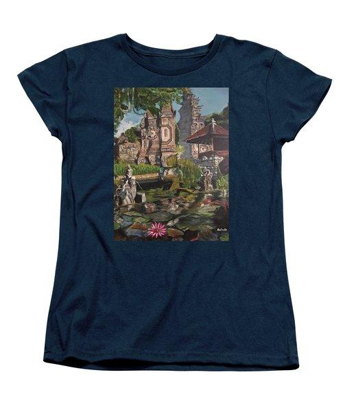 Come Into My World Women's T-Shirt (Standard Cut) by Belinda Low