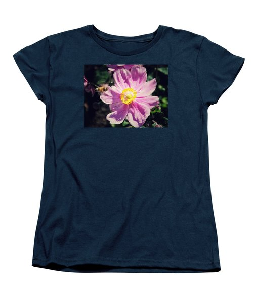 Women's T-Shirt (Standard Cut) featuring the photograph Coming In For A Landing by Karen Stahlros