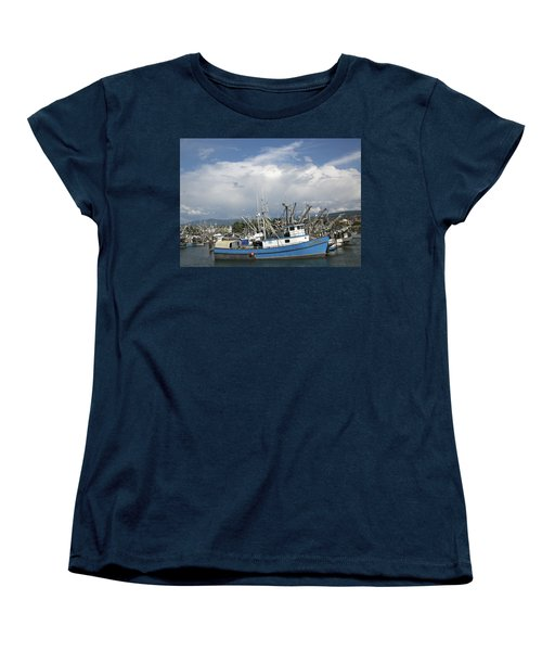 Commerical Fishing Boats Women's T-Shirt (Standard Cut) by Elvira Butler