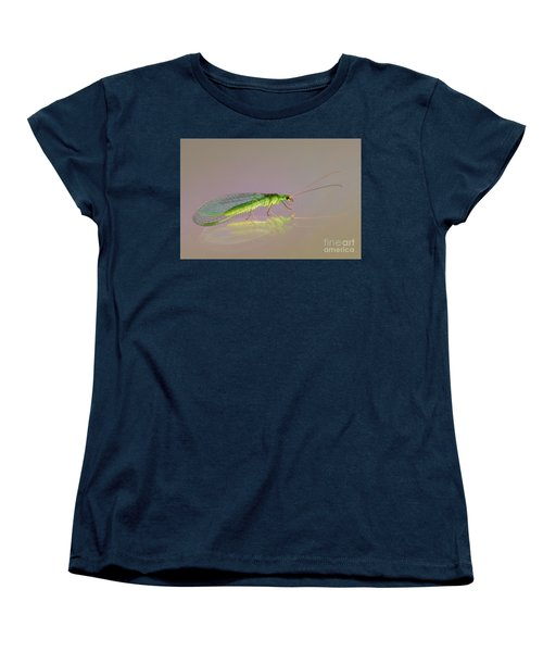 Common Green Lacewing - Chrysoperla Carnea Women's T-Shirt (Standard Cut) by Jivko Nakev