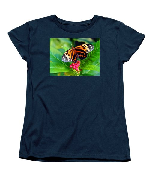Common Tiger Glassywing Butterfly Women's T-Shirt (Standard Cut) by Amy McDaniel