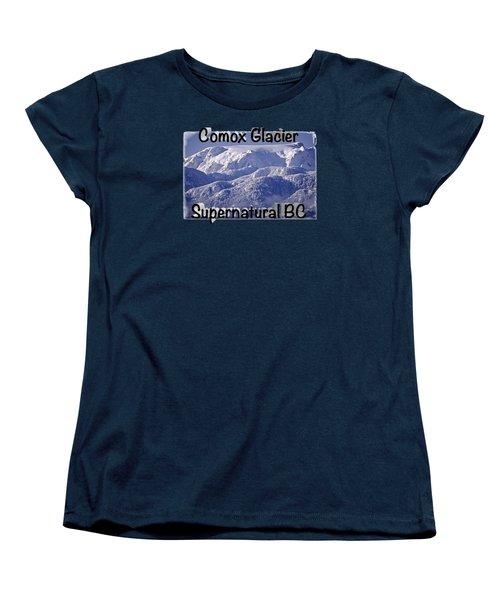 Comox Glacier And Fresh Snow Women's T-Shirt (Standard Cut) by Richard Farrington