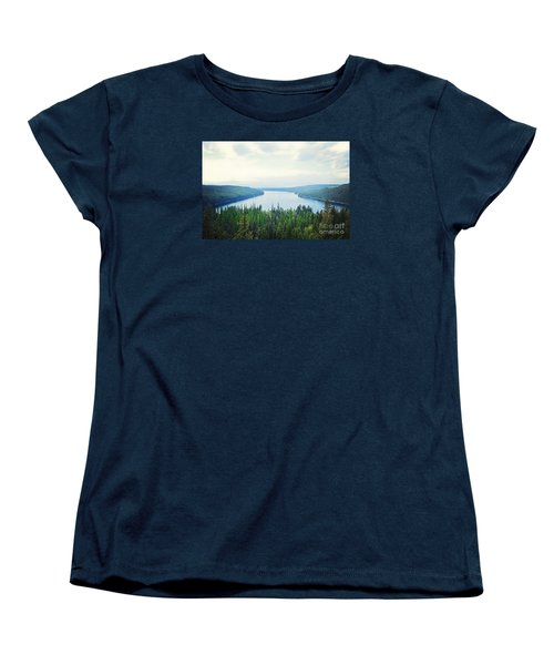 Women's T-Shirt (Standard Cut) featuring the photograph Companionship- Holland Lake by Janie Johnson