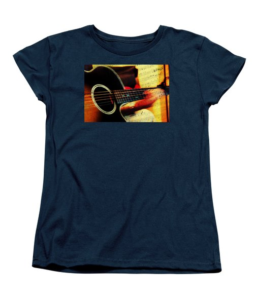 Composing Hallelujah. Music From The Heart  Women's T-Shirt (Standard Cut) by Jenny Rainbow