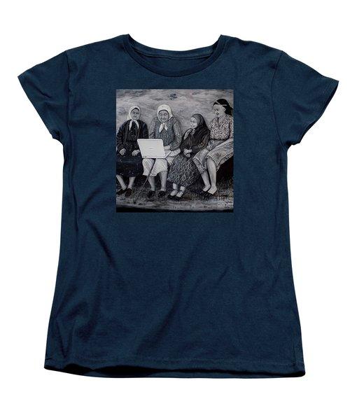 Computer Class Women's T-Shirt (Standard Cut) by Judy Kirouac