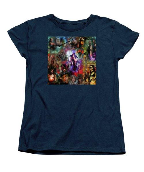 Conan The Barbarian Collage - Square Version Women's T-Shirt (Standard Cut) by John Robert Beck