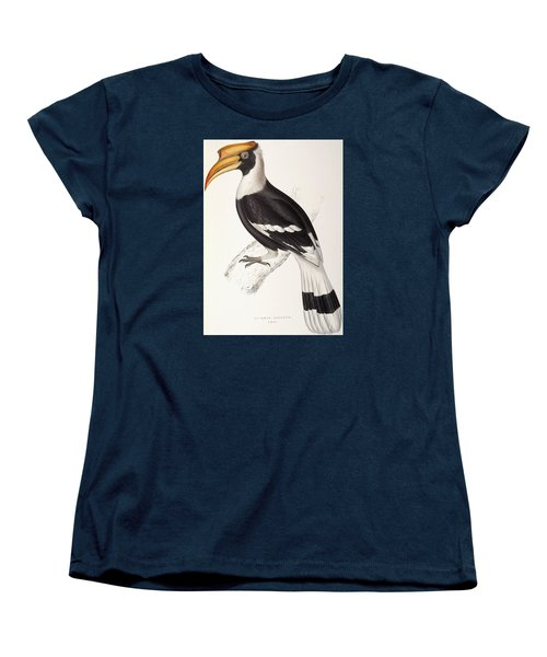 Concave Hornbill Women's T-Shirt (Standard Cut) by John Gould