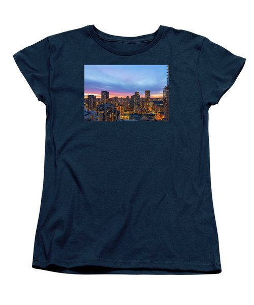 Condominium Buildings In Downtown Vancouver Bc At Sunrise Women's T-Shirt (Standard Fit)
