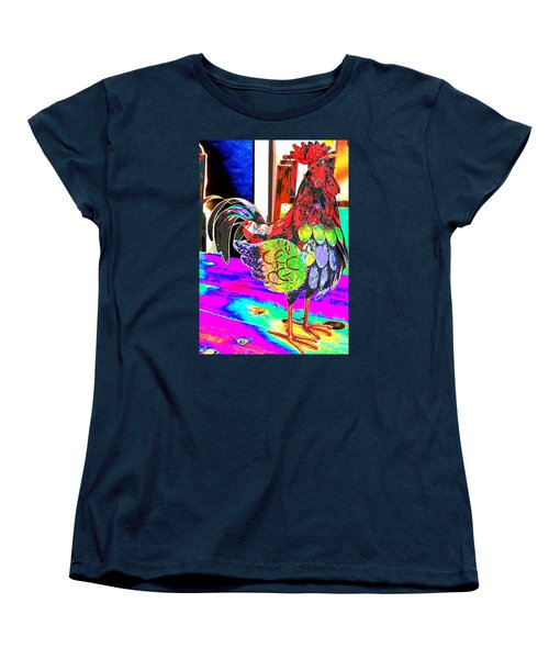 Women's T-Shirt (Standard Cut) featuring the photograph Confetti Rooster by M Diane Bonaparte