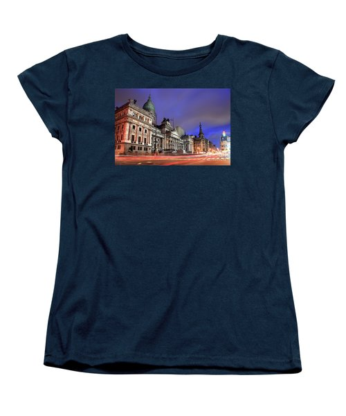 Women's T-Shirt (Standard Cut) featuring the photograph Congress  by Bernardo Galmarini