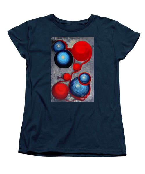 Women's T-Shirt (Standard Cut) featuring the painting Connections by Holly Carmichael