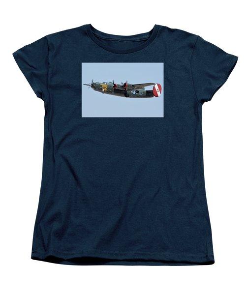 Consolidated B-24j Liberator N224j Witchcraft Phoenix-mesa Gateway Airport Arizona April 15 2016 Women's T-Shirt (Standard Cut)