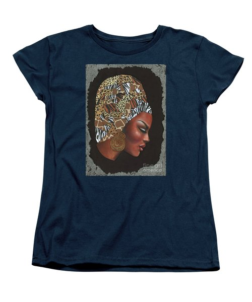 Women's T-Shirt (Standard Cut) featuring the mixed media Contemplation Too by Alga Washington