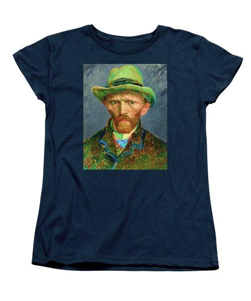 Contemporary 2 Van Gogh Women's T-Shirt (Standard Cut) by David Bridburg