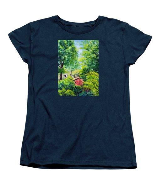Contentment Women's T-Shirt (Standard Cut) by Nancy Cupp