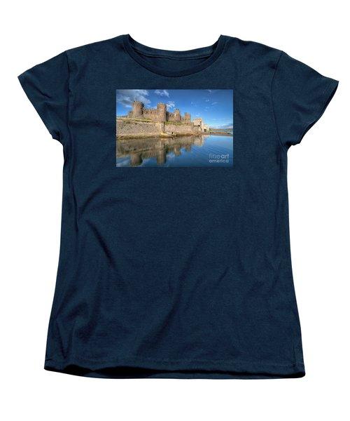 Conwy Castle Women's T-Shirt (Standard Cut) by Adrian Evans