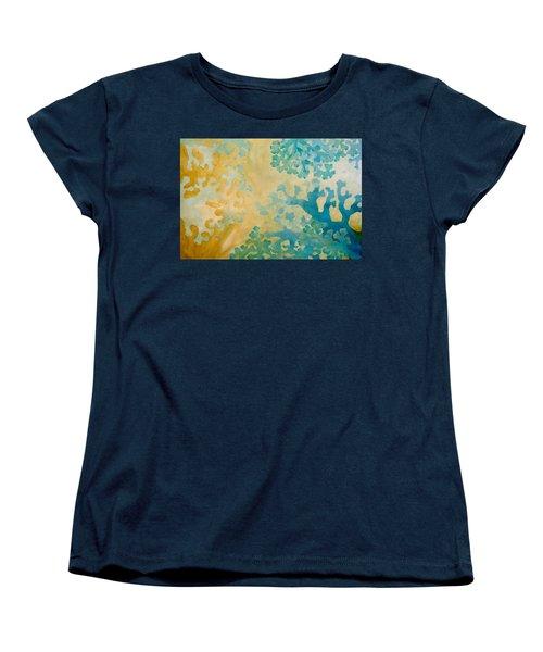 Cool Coral Women's T-Shirt (Standard Cut) by Dina Dargo