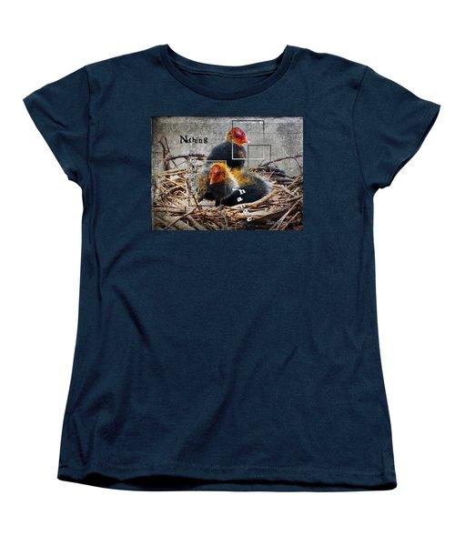 Coots In Nest Women's T-Shirt (Standard Cut) by Judi Saunders