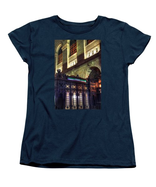 Women's T-Shirt (Standard Cut) featuring the photograph Copley Square T Stop - Boston by Joann Vitali