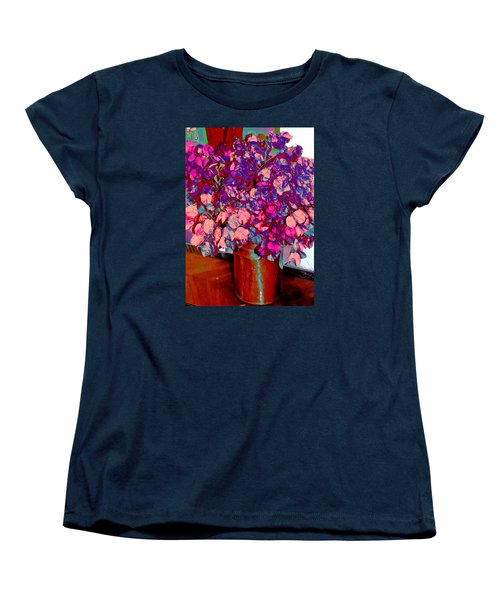 Copper Vase Floral Women's T-Shirt (Standard Cut) by M Diane Bonaparte
