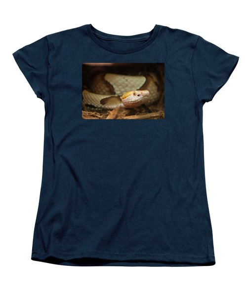 Women's T-Shirt (Standard Cut) featuring the digital art Copperhead by Chris Flees