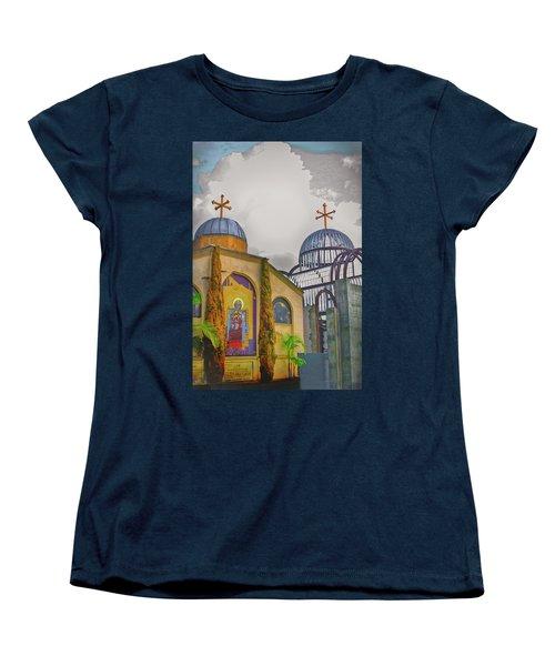 Coptic Church Rebirth Women's T-Shirt (Standard Cut) by Joseph Hollingsworth