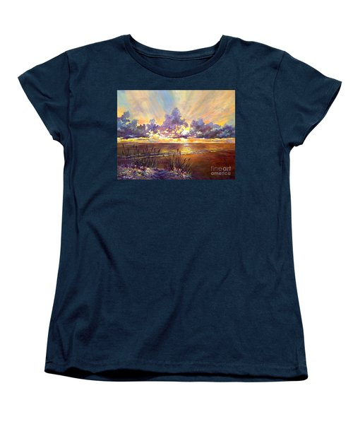 Coquina Beach Sunset Women's T-Shirt (Standard Cut) by Lou Ann Bagnall
