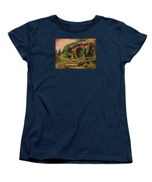Corgi At Hobbiton Women's T-Shirt (Standard Cut) by Kathy Kelly