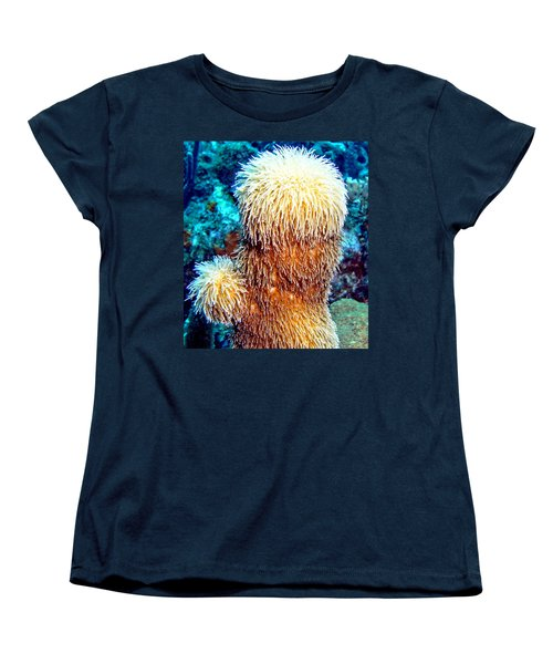 Women's T-Shirt (Standard Cut) featuring the photograph Corky Sea Finger Coral - The Muppet Of The Deep by Amy McDaniel