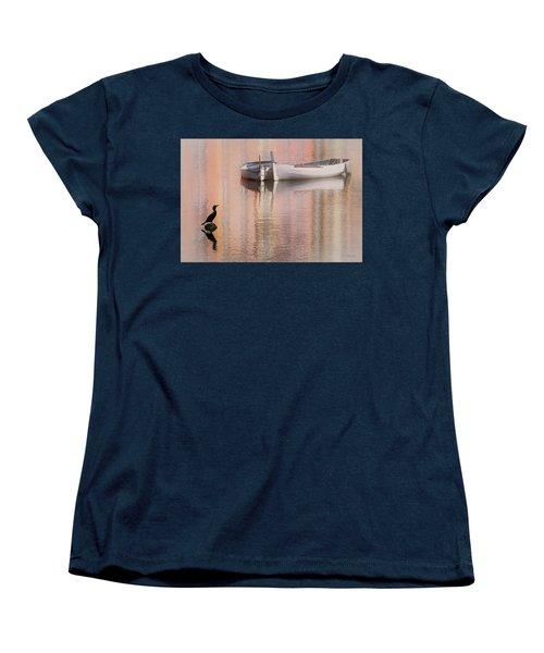 Cormorant And Boats Women's T-Shirt (Standard Cut) by Joe Bonita
