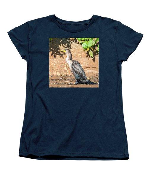 Women's T-Shirt (Standard Cut) featuring the photograph Cormorant On Shore by Paul Freidlund
