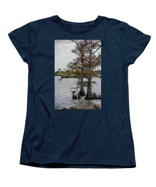 Women's T-Shirt (Standard Cut) featuring the photograph Cormorant by Paul Freidlund