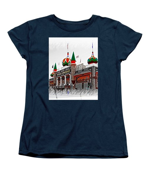Corn Palace South Dakota Women's T-Shirt (Standard Cut) by Bob Pardue