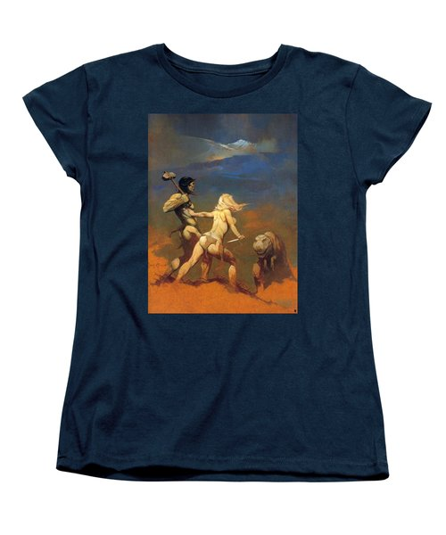 Cornered Women's T-Shirt (Standard Cut) by Frank Frazetta
