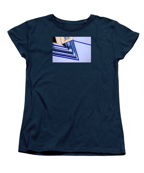 Women's T-Shirt (Standard Cut) featuring the photograph Cornering The Blues by Prakash Ghai