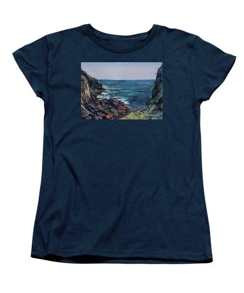 Cornish Clffs Women's T-Shirt (Standard Cut) by Genevieve Brown